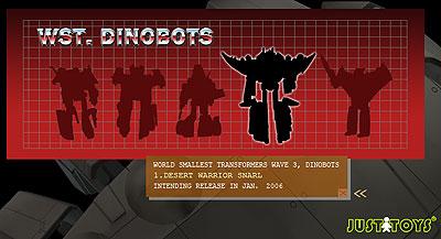 Worlds Smallest Transformer Dinobots? Coolness.