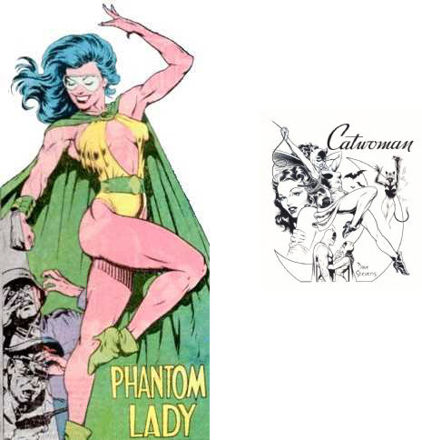 Phantom Lady and Silver Age Catwoman