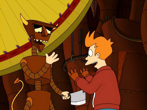 Robot Devil and Fry